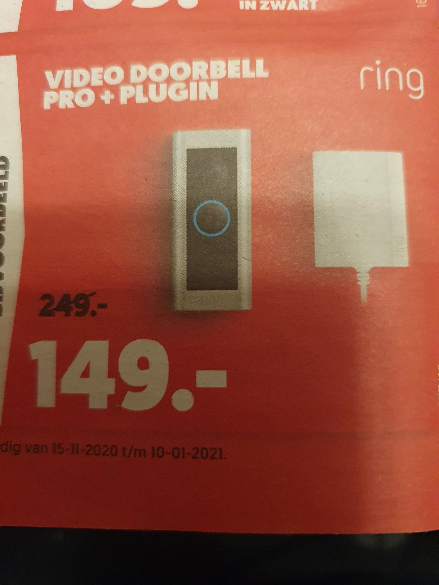 Ring Doorbell Pro + plugin laagste prijs ooit.