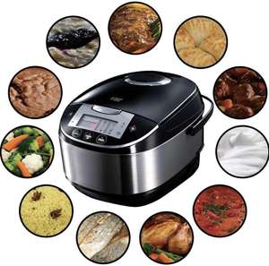 Russell Hobbs Cook@Home Digitale Multicooker 5L, Zwart