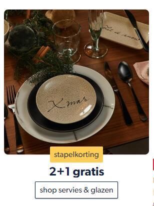 [Wehkamp] 2+1 gratis op servies & glazen: koken & tafelen