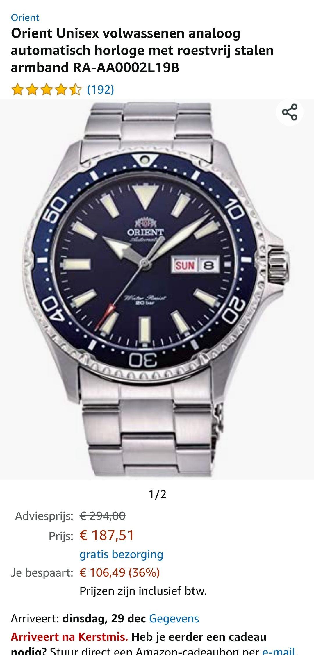 Orient Unisex - RA-AA0002L19B