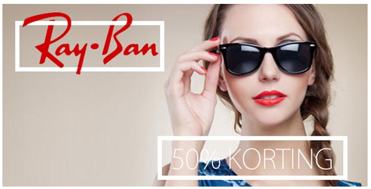 Heel veel modellen Ray-Ban met 50% korting @ Nu Hip