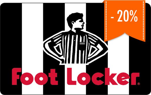 20% korting op Footlocker giftcards @Giffy
