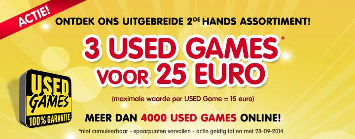 3 used games voor €25 (max. waarde €15 per game) @ Game Mania