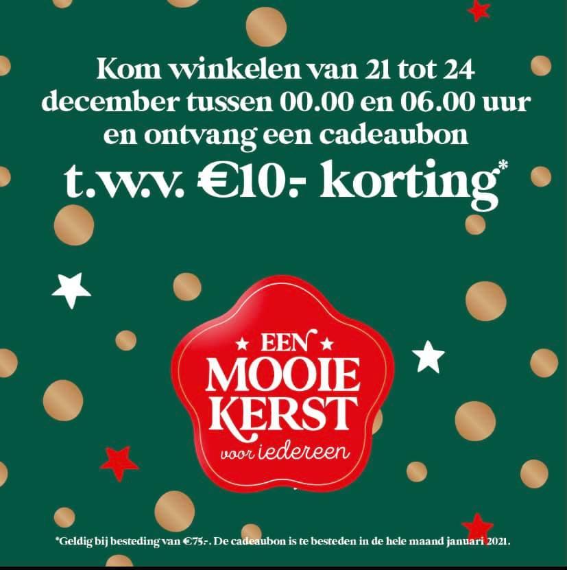 Doe je boodschappen vanaf €75 euro tussen 00:00 en 06:00 uur en ontvang een €10 cadeaubon @ Jumbo Foodmarkt Breda