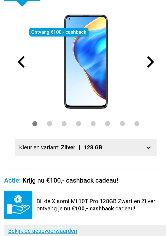 Xiaomi Mi 10T Pro 128GB Zilver na €100 cashback