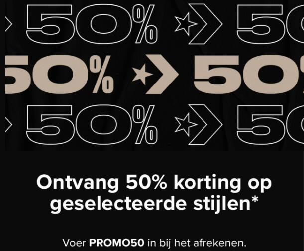 50% kortingscode voor early access op de sale @ Converse