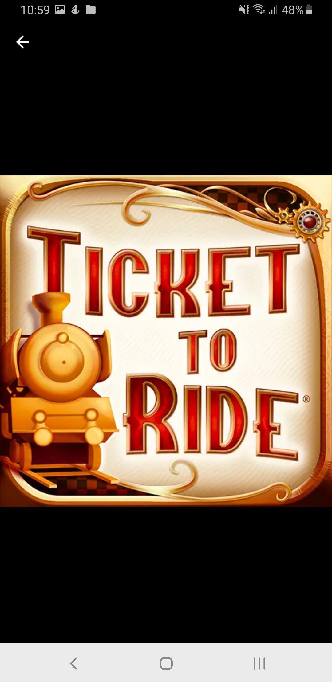 Ticket to ride app in de google playstore