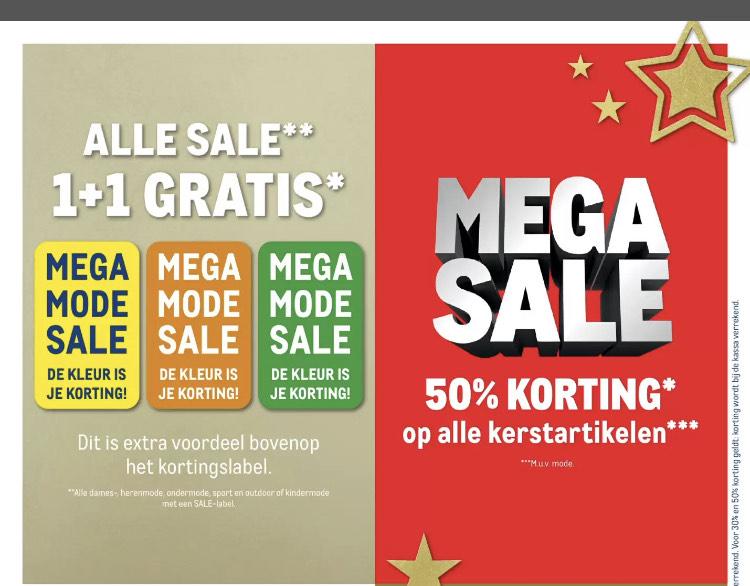 Makro deals! (50% korting op kerstartikelen, Alle mode sale 1+1 gratis)