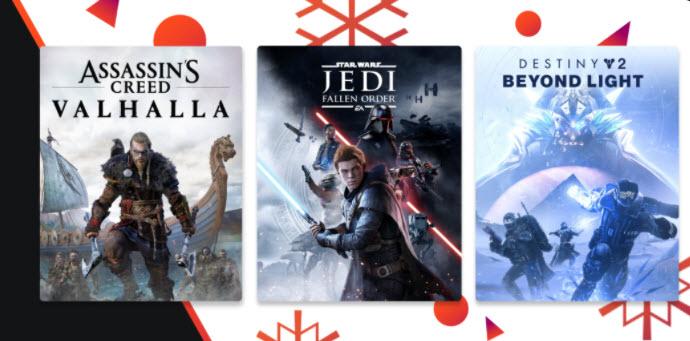 Eindejaarsaanbiedingen en gratis games @Google Stadia Store