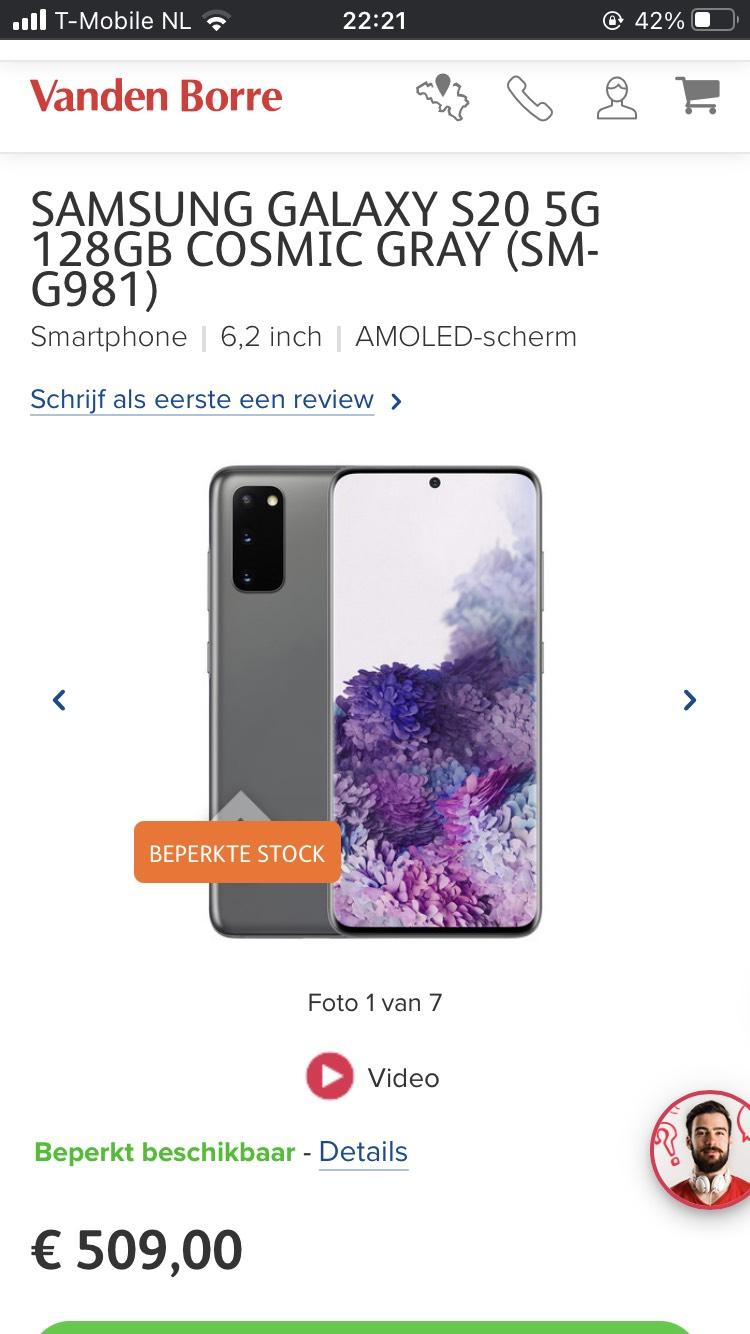 Samsung galaxy s20 grey