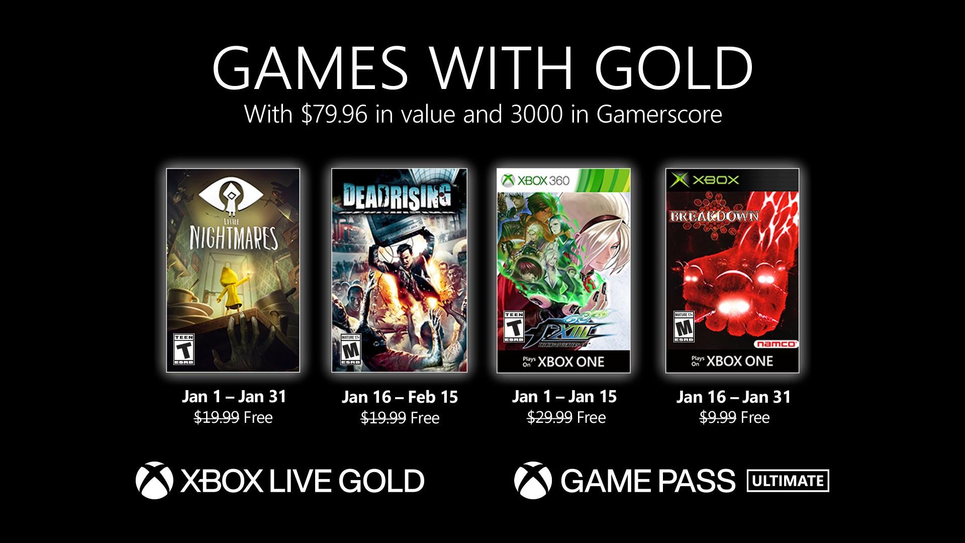 Games with Gold voor januari 2021