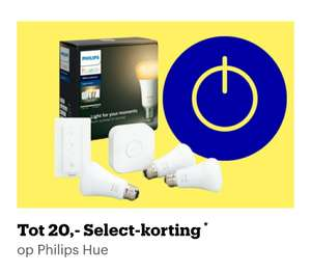 [select leden] Tot 20 euro select korting op Philips Hue