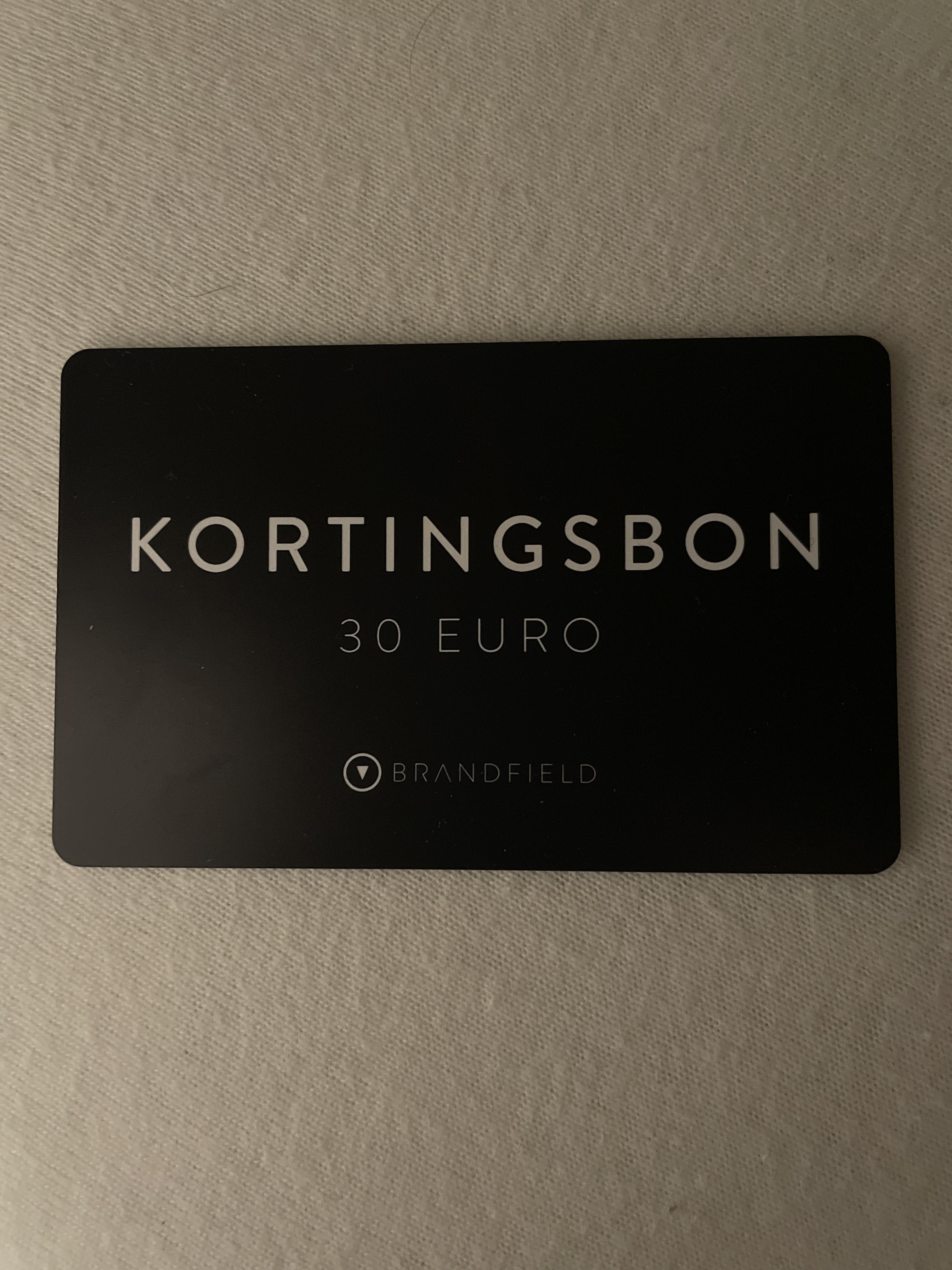 €30 korting bij besteding vanaf €150 @ Brandfield