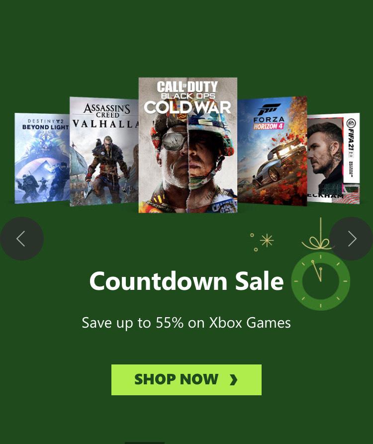 Tot 55% korting op Xbox games