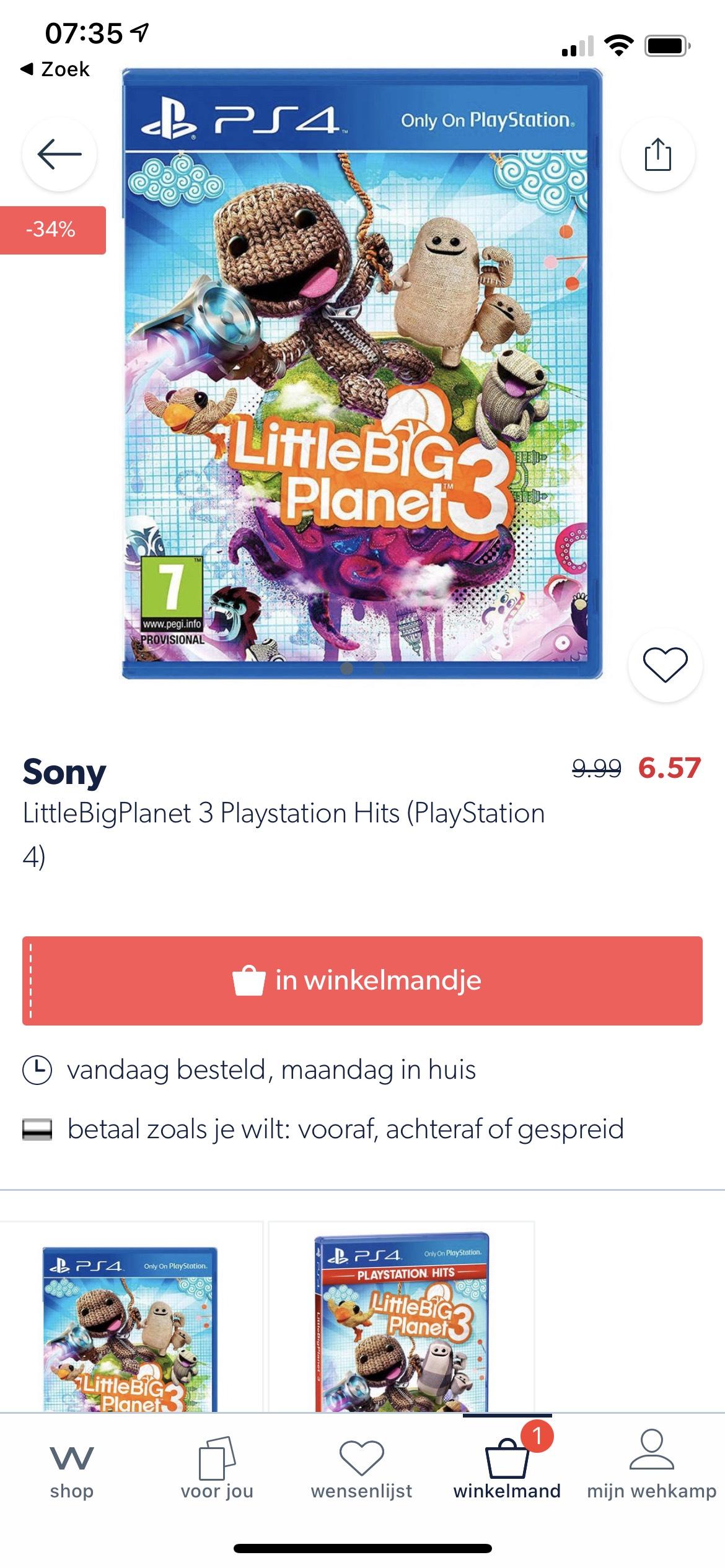 LittleBigPlanet 3 voor Playstation 4