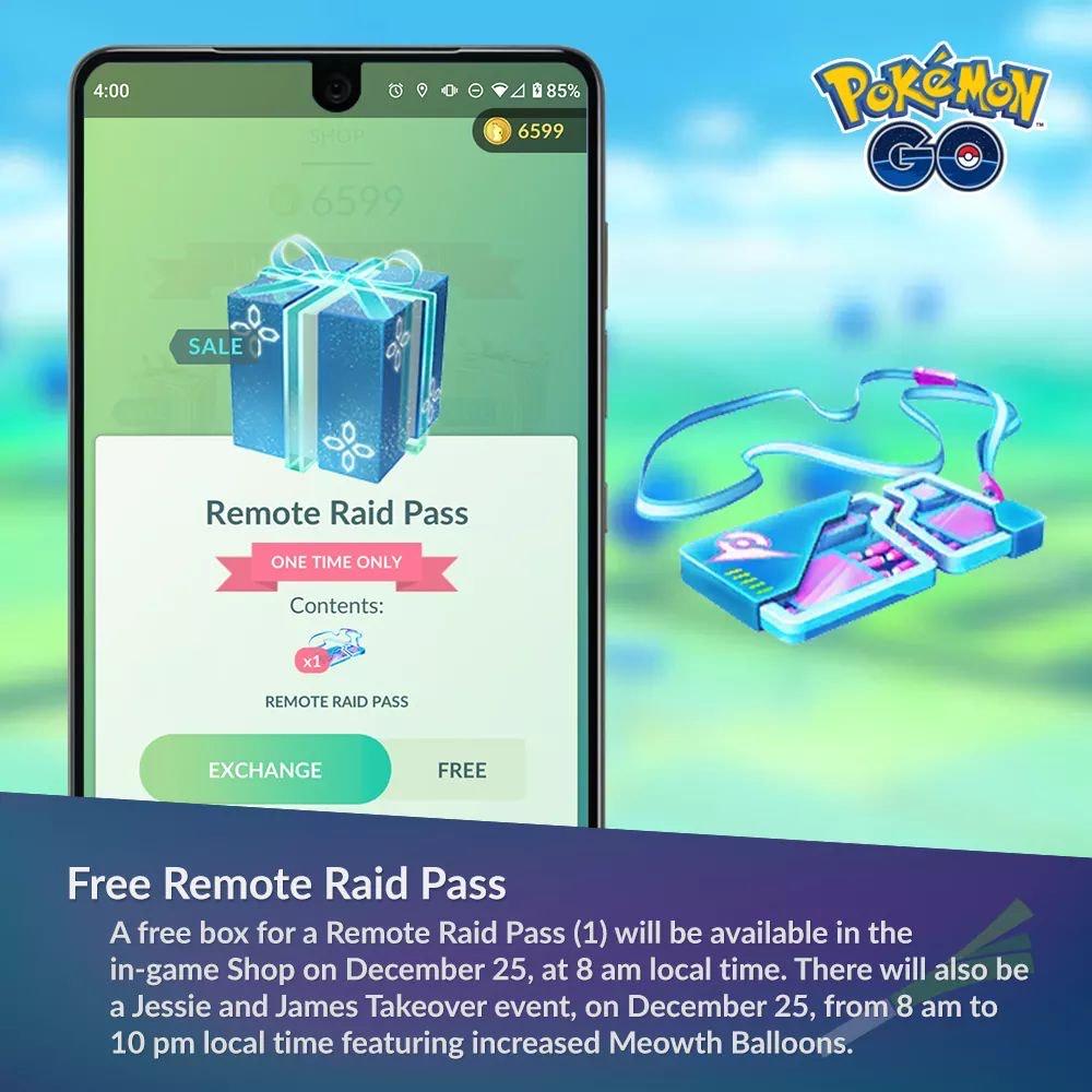Gratis Remote Raid Pass @ Pokemon GO