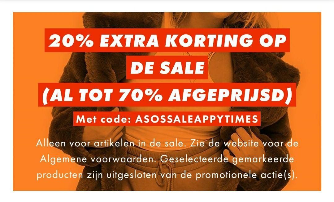 ASOS 20% extra korting op de sale