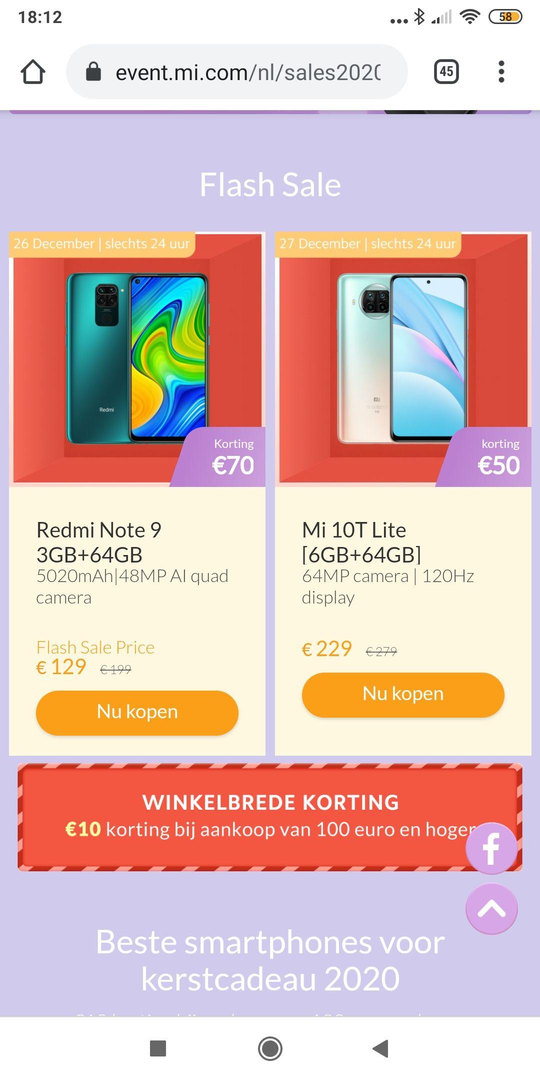 Xiaomi flash deals 24 uur geldig