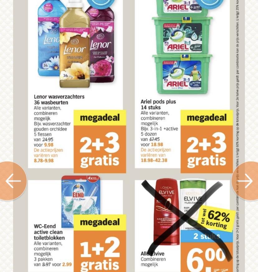 Megadeals 2+3 en 1+2 @ Albert Heijn