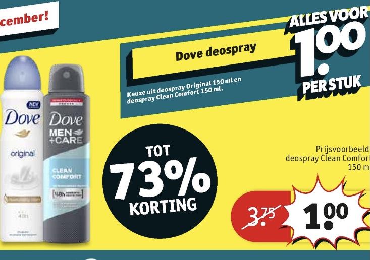 Dove deo-spray €1 @ Kruidvat
