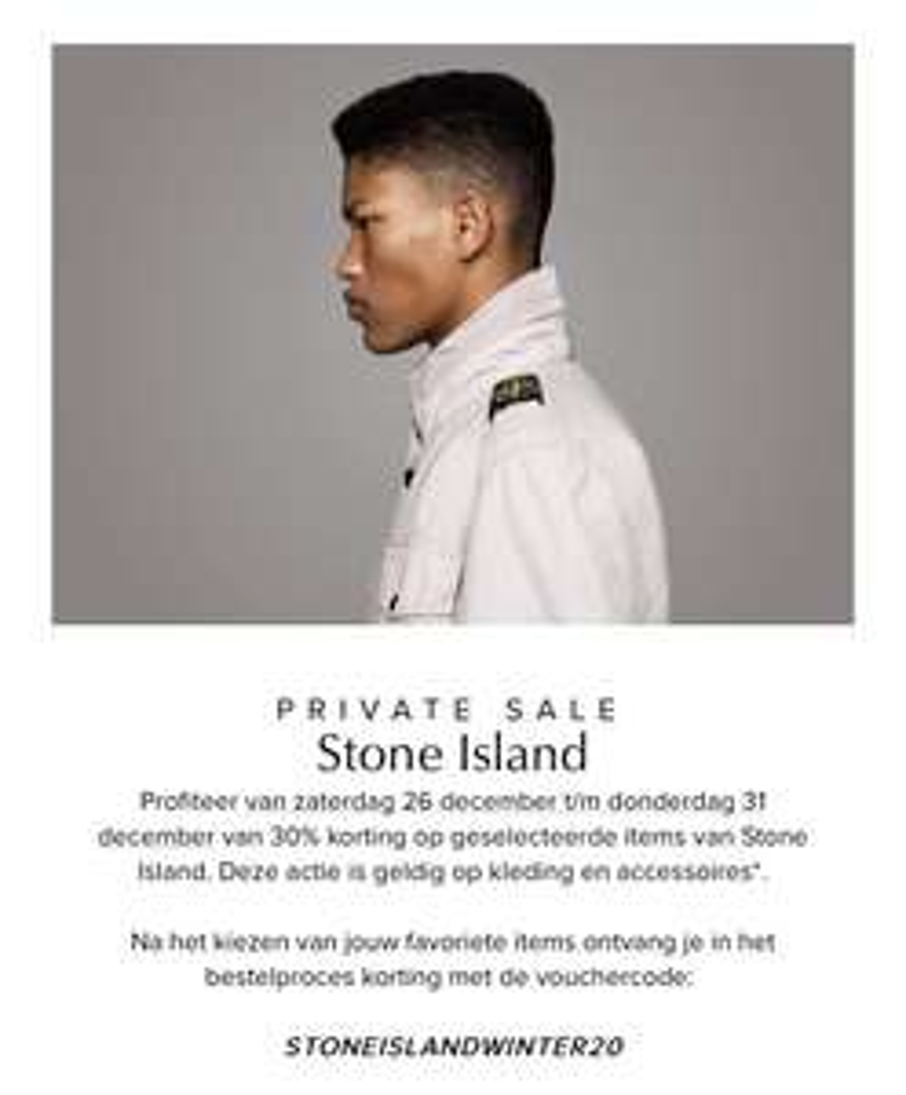 [Bijenkorf] 30% korting Stone Island