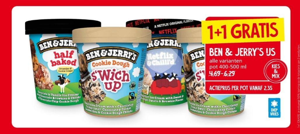 Ben & Jerrys - Nieuwjaars knaller! 1+1 gratis @Jan Linders