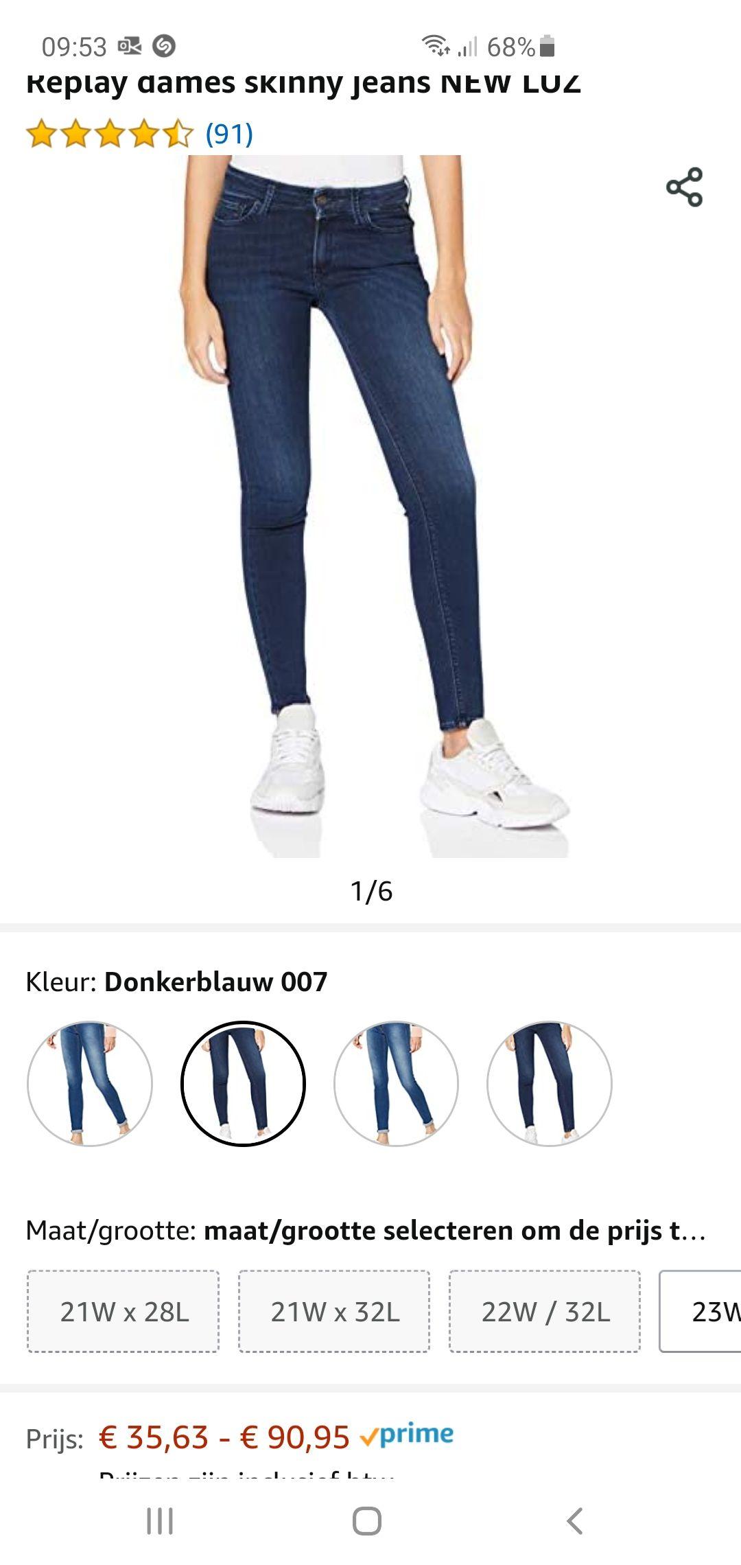 Replay dames skinny jeans NEW LUZ