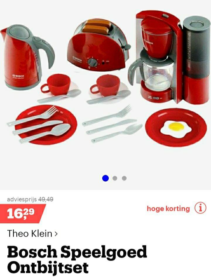 Bol.com. Bosch speelgoed ontbijtset