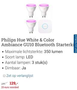 Philips Hue Starterskit white & colour ambiance GU10