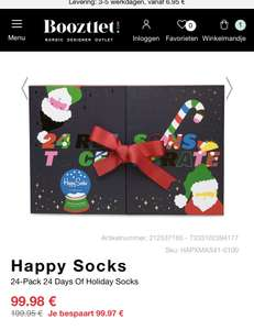 Happy socks adventskalender maat 41-46 met 50% korting