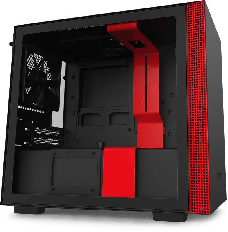NZXT H210 Rood/Zwart (Zwart ook beschikbaar) @ Amazon.nl
