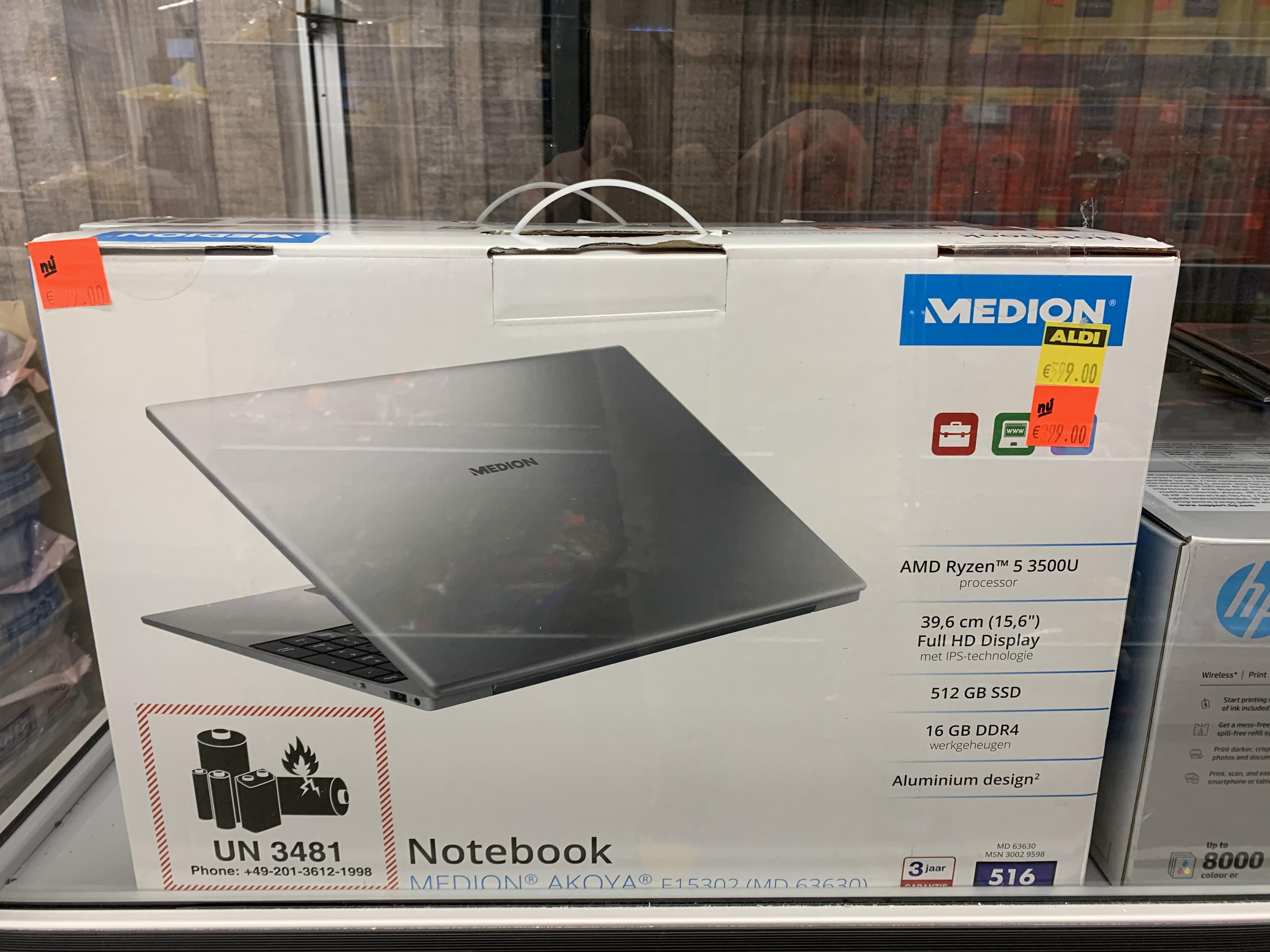 [Sint-Michielsgestel] Medion E15302 16GB RAM 512GB SSD Ryzen 5 3500U @Aldi