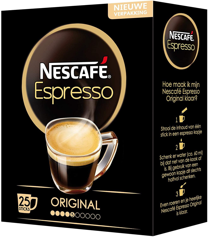 Nescafé Espresso oploskoffie - 6 doosjes à 25 zakjes [VOOR PRIME LEDEN]