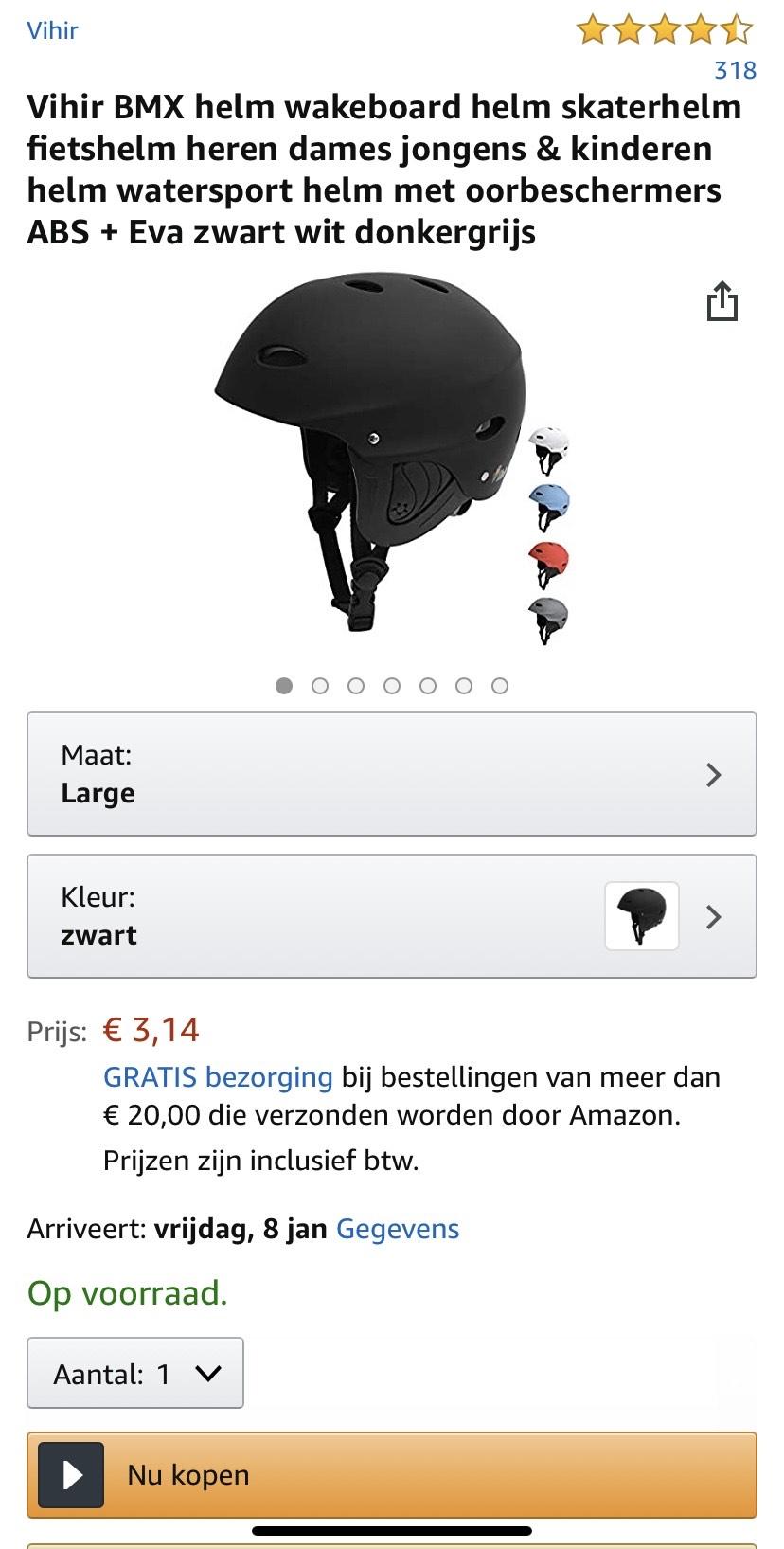Fietshelm maat L bij Amazon.nl