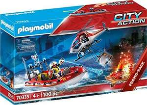 Playmobil City Action 70335 Brandweermissie, met Helikopter En Boot