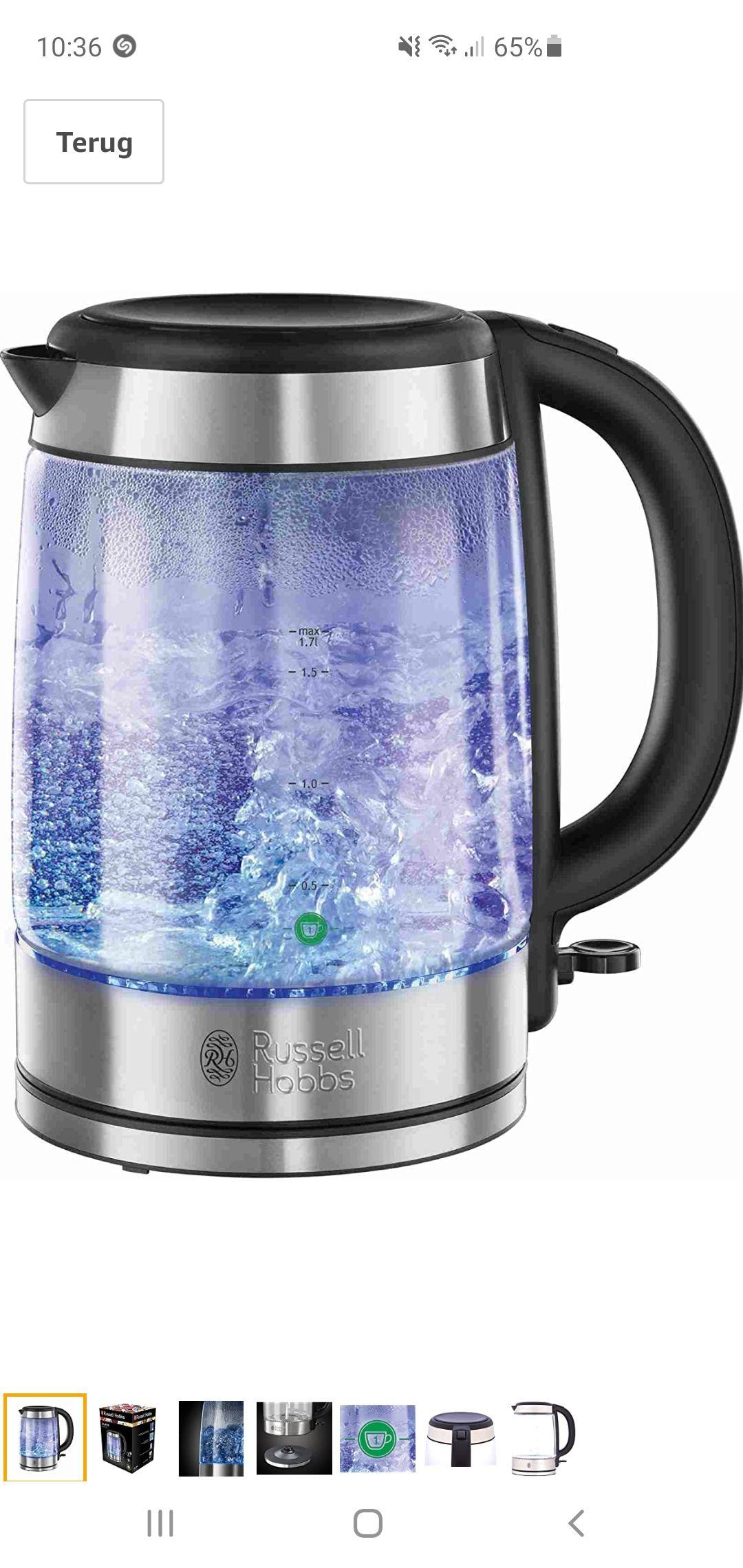 Russell Hobbs Glass Waterkoker van Glas