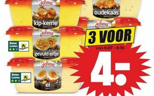 Johma salade 3 stuks voor €4,00