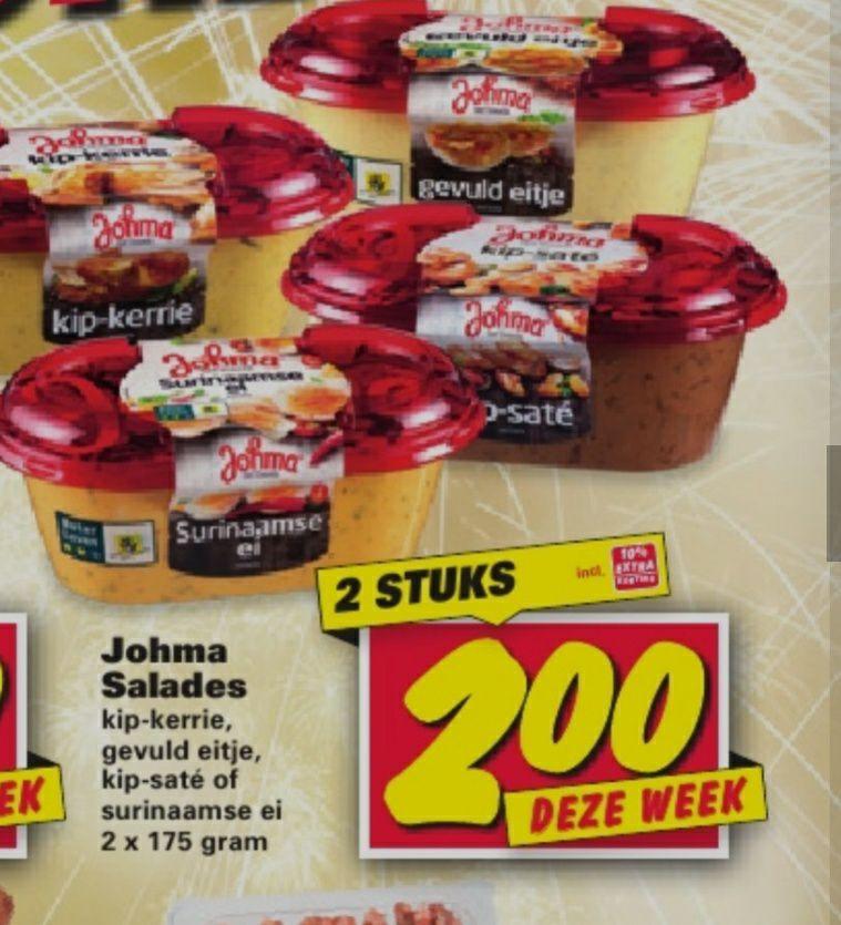 Johma salades 175 gram 2 voor €2 @Nettorama