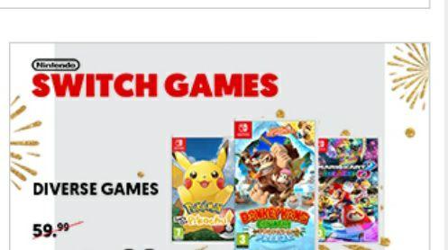 Diverse nintendo switch games