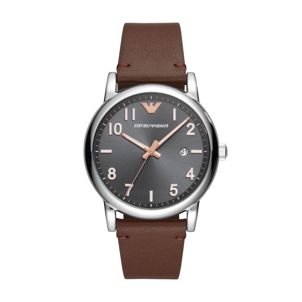 Emporio Armani Luigi horloge bruin 43mm voor €51,11 @ Amazon.nl