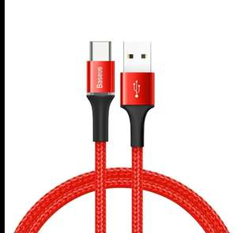 Baseus Usb C kabel 25cm (Rood) quick charge