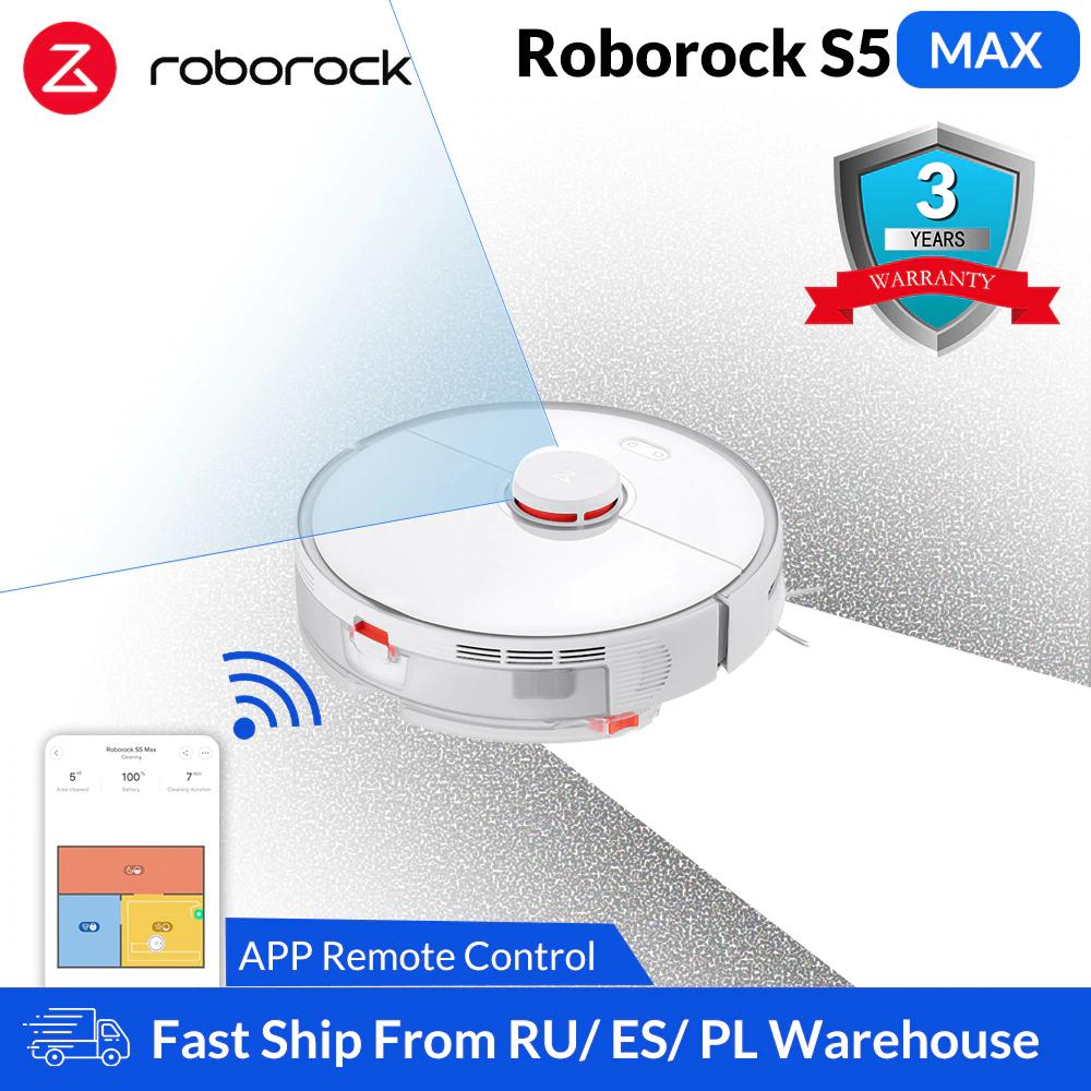 Roborock S5 Max met coupons 321,51 euro