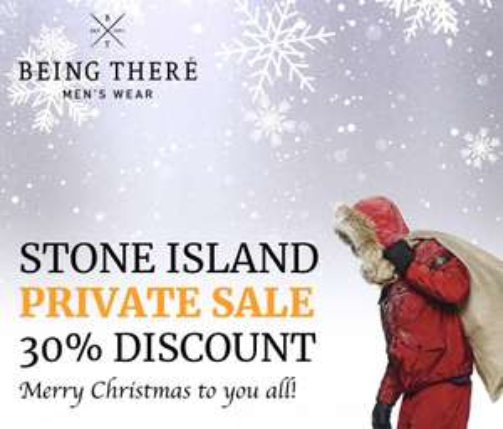 [BEING THERE] 30% korting op de wintercollectie van Stone Island!