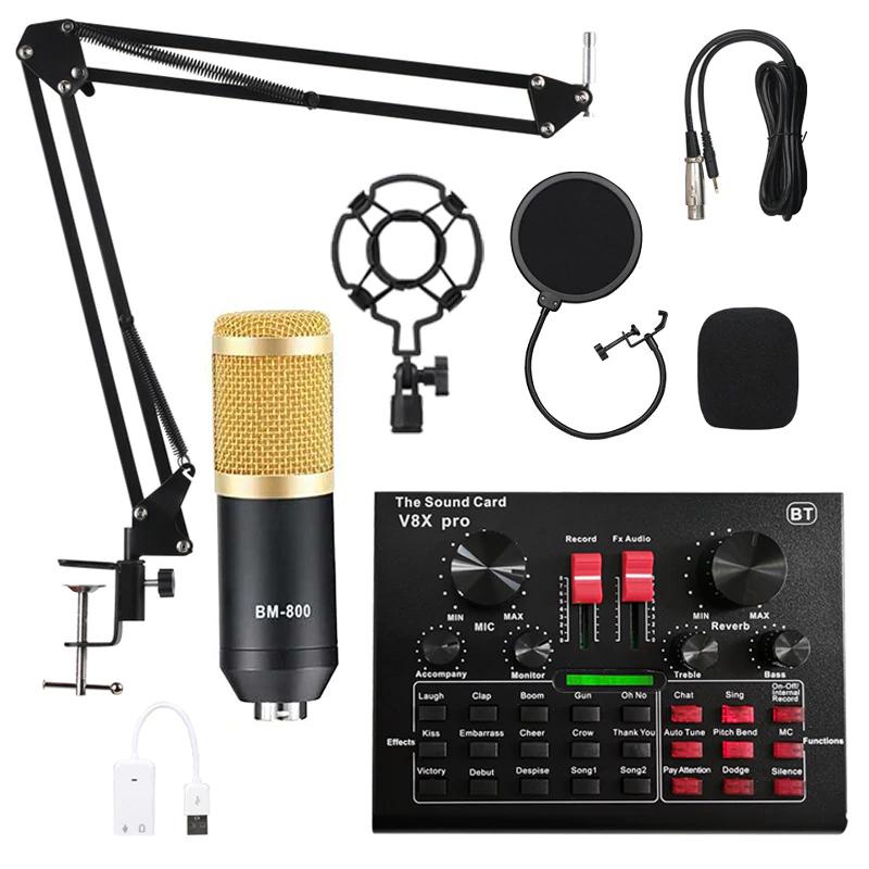 BM800 Pro mixer set (microfoon, houder etc.) @ Aliexpress