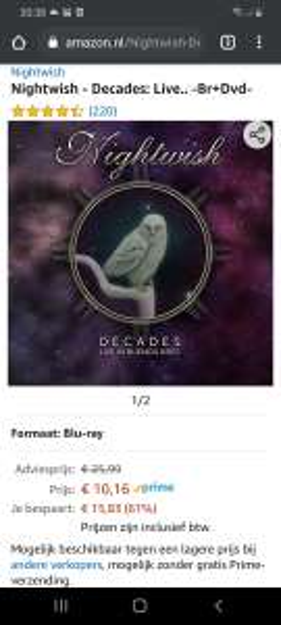 Nightwish Decades Blu-Ray Digibook
