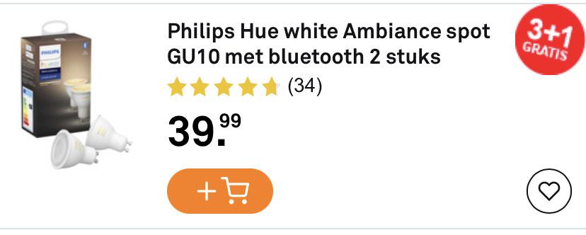 Hue GU10 3+1 gratis