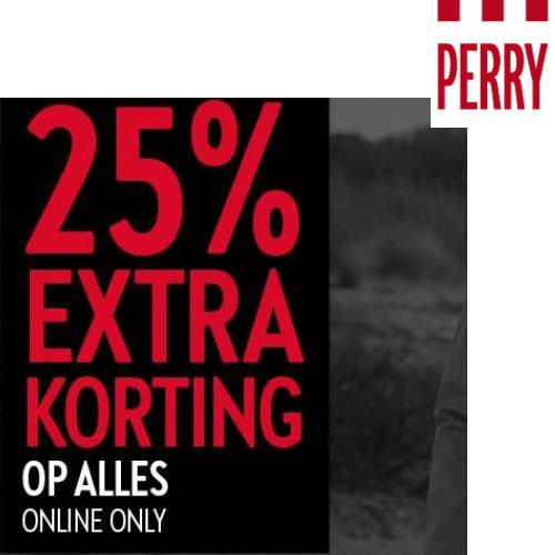 ACTIE: 25% EXTRA korting op alles @ Perry