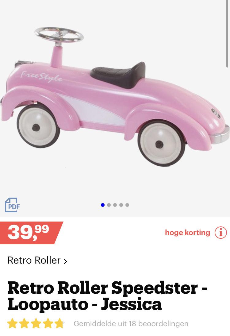 Retro Roller Speedster - Loopauto - Jessica [bol.com €39,99]