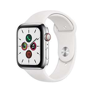 Apple Watch Series 5 (GPS + Cellular, 44 mm) Staal @amazon.fr