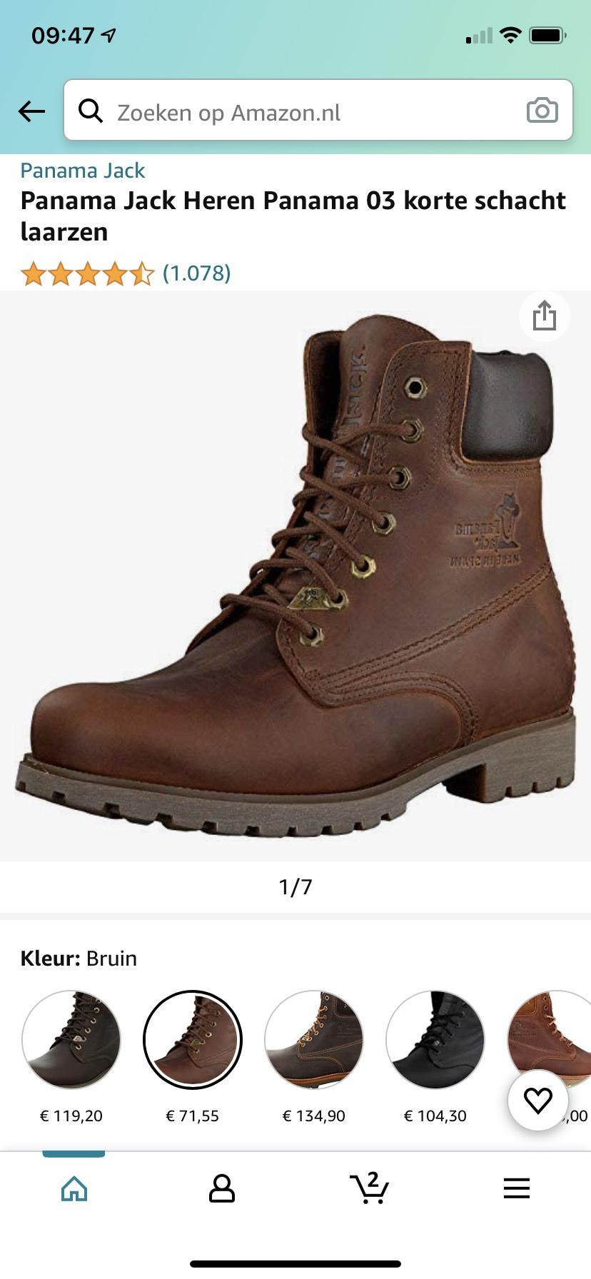 Panama Jack 03 boots voor heren